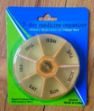 Round 7 Day Pill Box Organizer Medicine Travel Medication Holder Week - 4 Colors
