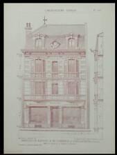 SAINT QUENTIN, 6 RUE DES TOILES -1928- PLANCHES ARCHITECTURE- ISRAEL ARDUIN