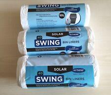 Swing Bin Liners 50L Bags Refuse Waste Sacks White With Tie Handles