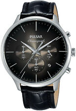 Pulsar Mens Classic Chronograph Stainless Steel Watch PT3865X
