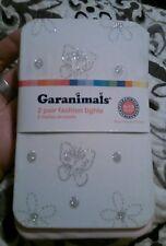 New Garanimals 2 pack white pink fashion Sparkle tights Toddler Girls Sz 6-18 m