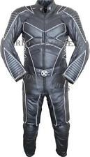 Combinaisons de motocyclette noirs en cuir, taille L