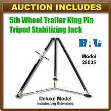 BAL Heavy Duty Deluxe Tripod 5th Wheel Camper King Pin Stabilizer Jack 25035