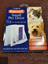 Staywell Original  Pet Door Small White See Through Rigid  Flap- Cat Flap 715