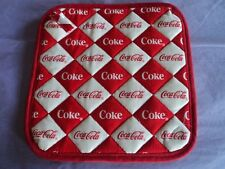 2 Handmade Pot Holders-Coca Cola, Coke Red Checkerboard -100% Cotton - Quilted