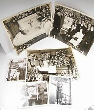 7 Vintage Starzyk Family & Post-Mortem Casket Funeral B&W Photographs 1940's Lot