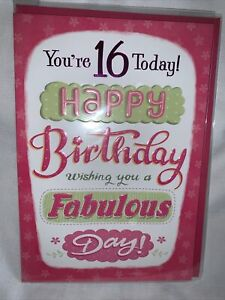 16th birthday card girl / birthday card for girl - 2 styles