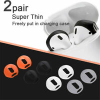2 Pair Earbud Anti Slip Earphone Tips Silicone Case Cover For AirPods Earpods