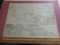 100% ORIGINAL LARGE RIVER THAMES SOURCE TO SEA MAP BY CASSELL C1863 RAILWAYS