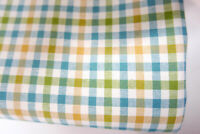 """New! 56"""" x 84"""" Blue, Green, Ivory, Peach or Tan Gingham Check Fabric"""