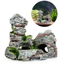 Aquarium Decoration Cichlid Betta Fish Tank Decor Resin Rock Rockery Cave TOP