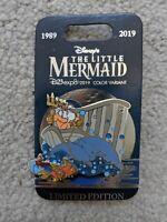 Disney D23 Expo 2019 The Little Mermaid Triton & Sebastian 30 Anniversary Pin LE
