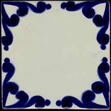 """Hand made 6""""x6"""" Mexican Talavera tiles, Classic 13, in overstock"""