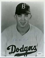 Chris Van Cuyk Brookly Dodgers Signed Jsa Sticker 8x10 Photo Authentic Autograph