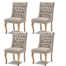 Chaises beige en tissu pour la maison