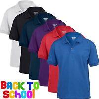 5 Pack Childrens Gil Dryblend Jersey POLO Shirt Boys Girls Uniform School PE Top