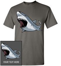 Angry Shark T-Shirt, Men Women Youth Kids Tank Long Personalized Tee great white