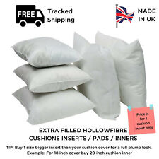Extra Filled Hollow Fibre Plump Cushion Inners Fillers Inserts Pads - All Sizes