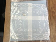 Antique Hand Made Bridal Lace Handkerchief Extra Large