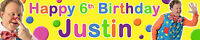 2 x MR TUMBLE  PERSONALISED BIRTHDAY BANNERS