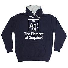 Ah Element Of Surprise HOODIE Geek Sci Nerd Joke Hoody Top Gift birthday funny