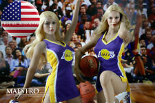 """1/6 NBA Lakers Cheerleader Suit Set A For 12"""" PHICEN Hot Toys Female Figure USA"""