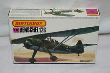 MATCHBOX 1/72 HENSCHEL HS 126 PK-26 - VINTAGE MODEL KIT