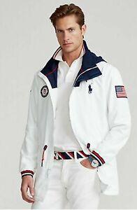 NWT Polo Ralph Lauren WHITE TEAM USA OLYMPIC Closing Ceremony Jacket size MEDIUM
