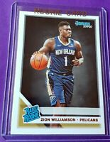ZION WILLIAMSON 2019 Donruss #1 Draft Pick RATED Rookie Card RC Pelicans $$ HOT