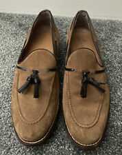 Zara Man Brown Tan Suede Mens Size 7 EU 41 Loafers Shoes Used