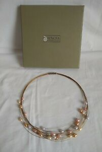Honora 12 Strand Pearl Floating Necklace With Magnetic Clasp Pre Owned