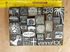 24 Printer Blocks For Letterpress Printing Kelsey Shadowbox Decoration