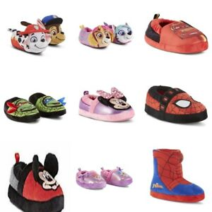 Toddler Boys or Girls Character Plush Slippers . Disney, Nick, and others.u-pik
