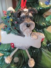 Schnauzer ~ Uncropped ~ Dangling Dog Ornament ~ #105