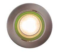 LED Glas Einbaustrahler GU10 230V rund grün  Deckeneinbauspot Einbau Rahmen