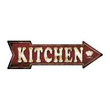 Outdoor/Indoor Kitchen Cooking Food Chef Novelty Metal Arrow Sign 5 x 17
