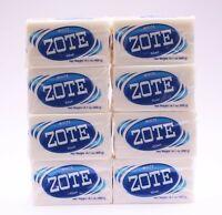 8 PCS ZOTE WHITE Laundry Bar Soap 14.1 OZ 400g EACH