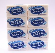 8 PCS ZOTE WHITE Laundry Bar Soap 14.1 OZ 400g delicate clothes MADE IN MEXICO