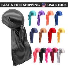 Silky Satin Durag Premium Unisex Bandana Wave Cap Hat Doo Rag Biker Head Wrap
