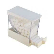 PULL STYLE COTTON ROLL DISPENSER - WHITE - PLASDENT