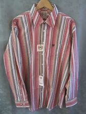 Cinch MT12022001 Striped Shirt Size XL NWT Stretch Fabric