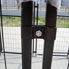 Dog Kennel Pen Cage Chain Link Black Exercise Pet Animal Indoor Outdoor New