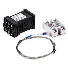 Digital 220V PID REX-C100 Temperature Controller + K Thermocouple + max.40A SSR