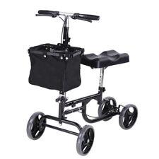 Steerable Knee Walker Scooter w/ Basket Rolling Wheel Handlebar Medical Drive