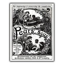 Pears Soap Métal Signe Plaque murale vintage salle de bain cuisine pub art imprimé 1880