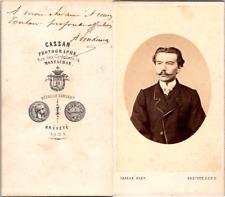 Cassan, Montauban, Un homme nommé H. Sondemor, dédicace au dos Vintage CDV album