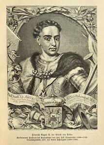 August der Starke - Kurfürst von Sachsen - König von Polen - Litauen - Wettin