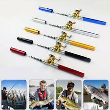 Fishing Rod Portable Mini Pocket Pen Shape Aluminum Fish Pole with Reel HOT