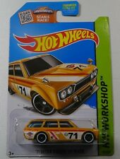 HOT WHEELS HW Workshop 2013 71 Datsun Bluebird 510 Wagon YELLOW 1971 202/250