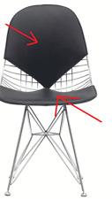 Solo Coussin remplacement Dkr Bikini Wire chair chaise pad noir cuir artificiel
